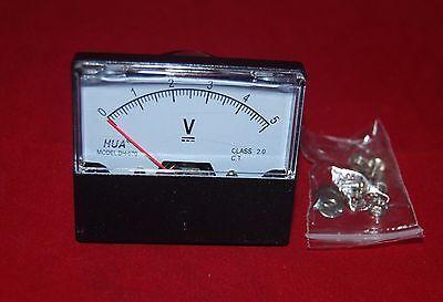 Dc 5v Analog Voltmeter Panel Voltage Meter 0-5v 6070mm Directly Connect