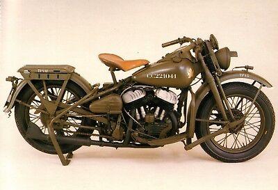 Harley Davidson WLA 45 Motorbike Jumbo Fridge Magnet