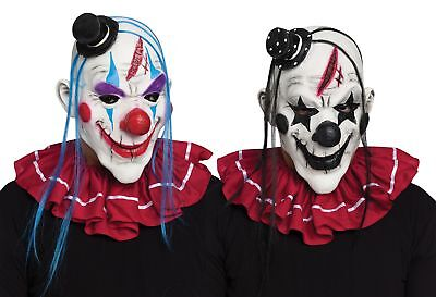 Scary Horror Clown Adult Mens for Halloween Costume Hair Hat Creepy