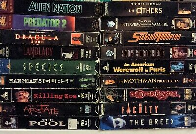 Lot of 18 Horror SciFi Fantasy VHS tapes