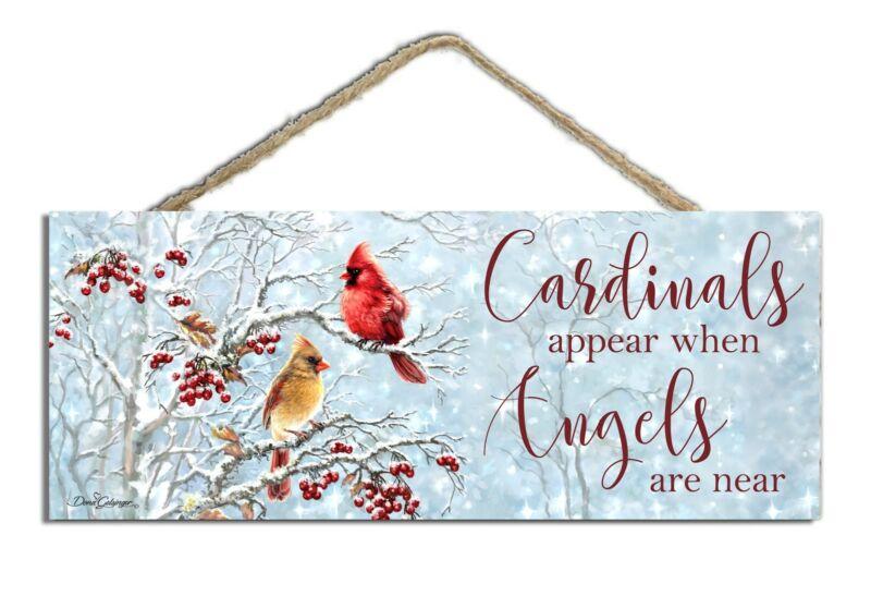 Sign-Cardinals Appear w/Foil & Glitter (4 x 10)