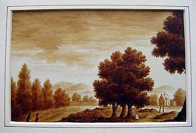 LATHBURY FAMILY (4)   FIGURES IN WOODED LANDSCAPE MONO  W/COL C1831
