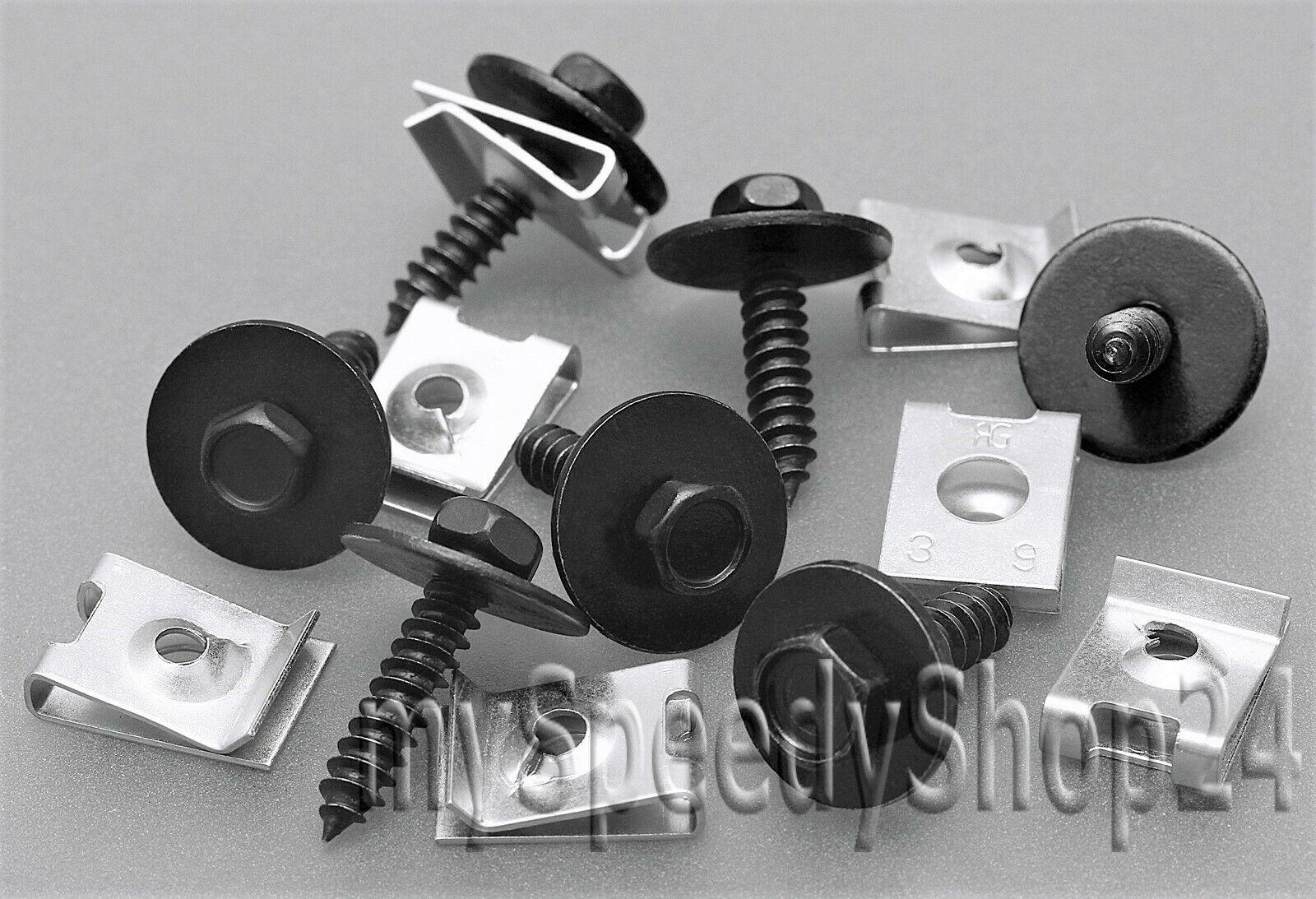 10x Einbausatz Blechmutter mit Schrauben Unterboden Fiat Alfa Romeo Lancia