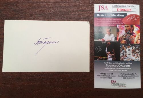Valentina Tereshkova Signed Autographed 3x5 Card JSA Certified First Woman Space