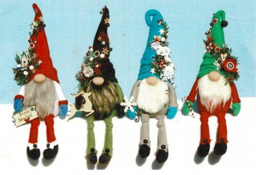 "Cloth Folk Art Pattern ""Sew Charming"" Winter Gnomes By Ginny Lettorale"