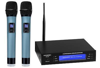 DJ PA Doppel 2.4 GHz Funk Mikrofon Set Wireless Microphone Kabellos Microfon Mic