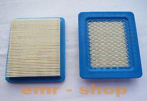 2 Stück Luftfilter für Briggs & Stratton Motoren Quantum 491588, Rasenmäher usw