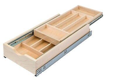 Century Components DTIER11PF-FF Double Tier Silverware Tray Organizer - 11-7/8
