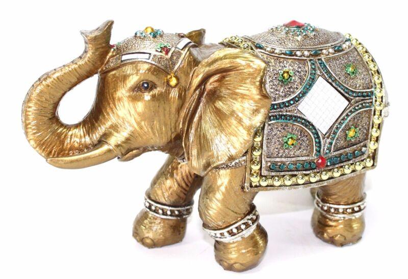 "Feng Shui 9"" Elegant Elephant Trunk Statue Lucky Figurine Gift & Home Decor"