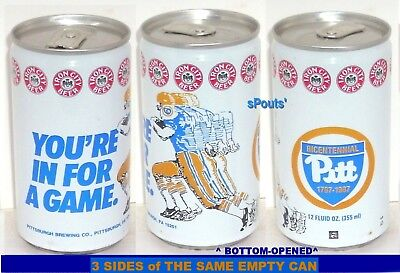 Pitt Panthers Sports - 1987 PITT PANTHERS FOOTBALL GAME SPORT TIN BEER CAN PITTSBURGH,PA IRON CITY NCAA