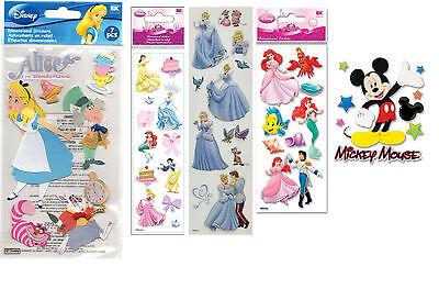 Disney 3 Dimensional Sticker Alice, Ariel, Cinderella, Belle...
