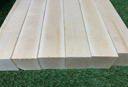 "LOT OF 5 PCS,   2"" x 2"" x 12"" Basswood Carving Wood Blocks"