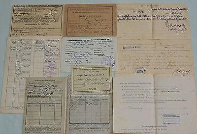 Diverse Papiere eines Mannes der Reichsbahn Laufbahn ab 20er Jahre