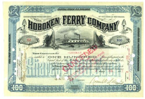Hoboken Ferry Company. Stock Certificate 1897