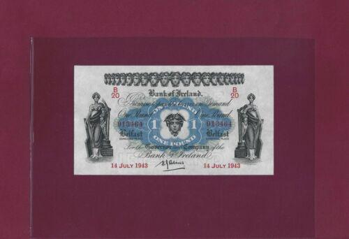 Ireland Northern BANK OF IRELAND 1 Pound 1940 P-55 AU-UNC  RARE