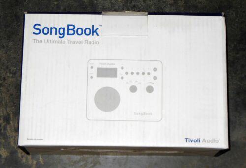 Tivoli Audio SongBook AM/FM Alarm Clock Travel Radio (blue/silver)