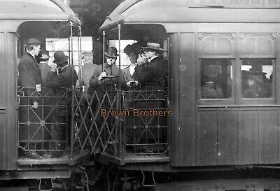 1900s New York City Crowded Subway Cars Overflow Glass Photo Camera Negative