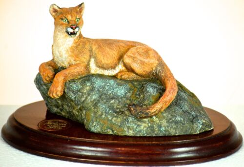1991 Hallmark Galleries Majestic Wilderness Collection Mountain Lion Sculpture