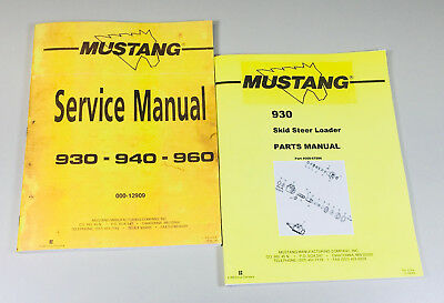 Mustang 930 Skidsteer Loader Service Parts Manual Catalog Shop Book Set Ovhl