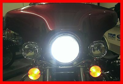 WORLD'S BRIGHTEST PLUG-IN MOTORCYCLE LED HEADLIGHT 6000k H4 BULB