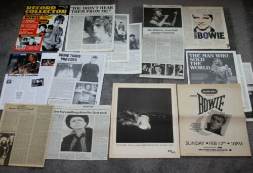 David Bowie - 30+ magazine articles clippings cuttings lot - USA Japan Germany