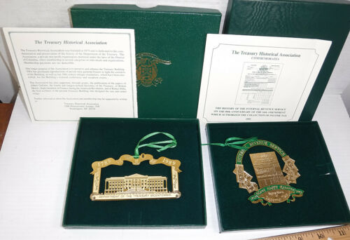 U.S. Treasury  Department  1989 Bicentennial and 1993 IRS Christmas Ornaments