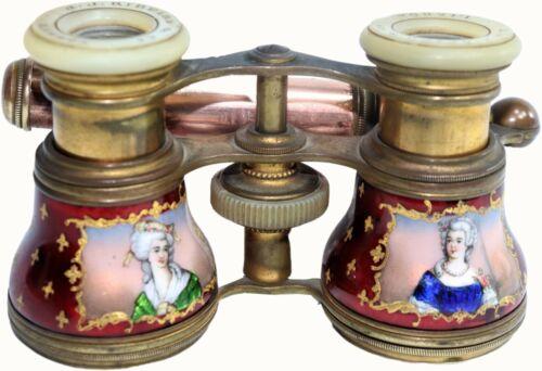 19th century impire Ribeiro Lisbon style enamel binoculars