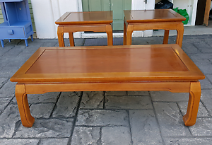 Ming Chow Leg Coffee Table and 2 Side Tables Lutwyche Brisbane North East Preview