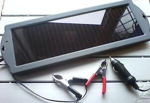 panneau solaire chargeur de batterie de voiture 12v neuf ebay. Black Bedroom Furniture Sets. Home Design Ideas