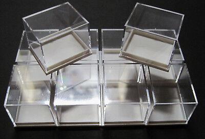 10 Stück: 41x35x32 mm Dosen für Mineralien Sammelkasten Mineraliendosen Sammlung