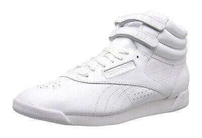 Reebok Hi Freestyle White Womens Sneakers Tennis Shoes J92632