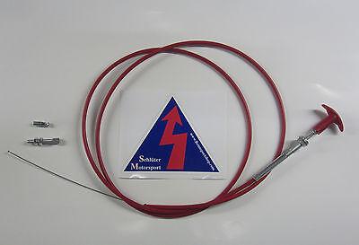Bowdenzug Fernauslösung, 1,5m für Hauptstromschalter Feuerlöschanlage ummantelt