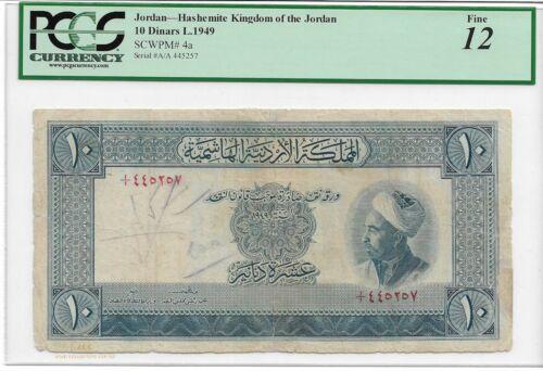 JORDAN 1949 10 dinars