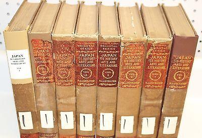 Japan its History Arts and Literature 8 Volumes Capt. Frank Brinkley 1902 ()