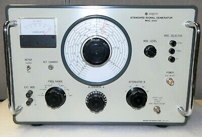 Meguro Msg-221c Radio Standard Signal Generator Test Equipment Analog Manual