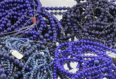 40 Vintage Strands of Genuine Lapis Lazuli Beads + Loose Beads 6000 Carats +