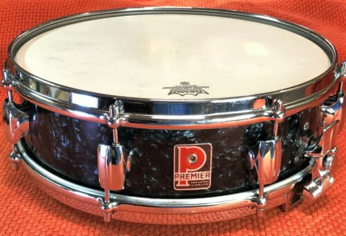 "Premier Royal Ace Snare Drum 14x4"",  Black Pearl Circa 1966"