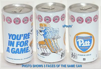 Pitt Panthers Sports - 1987 PITT PANTHERS FOOTBALL GAME SPORT TIN BEER CAN PITTSBURGH IRON RUNNING BACK