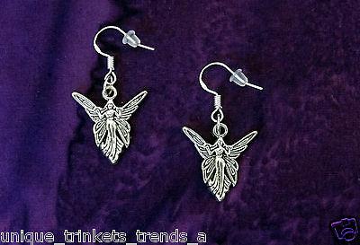 BUY 3 GET 1 FREE~FAIRY ANGEL WING SILVER EARRINGS~STERLING HOOK~MOTHERS DAY - Angel Wing Earrings
