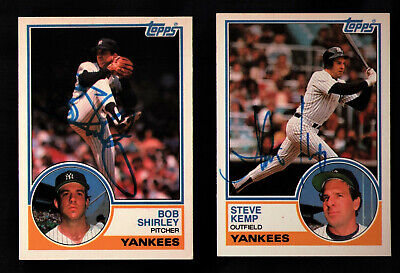 1983 Topps Traded #53T Steve Kemp AUTOGRAPHED SIGNED .99 SHIP New York Yankees
