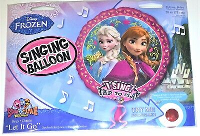 XL Disney Frozen singender Folienballon Ballon  71 cm  Anna Elsa Happy Birthday