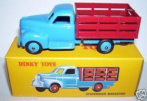 Reedition Dinky Toys Atlas Studebaker Maraicher Bleu