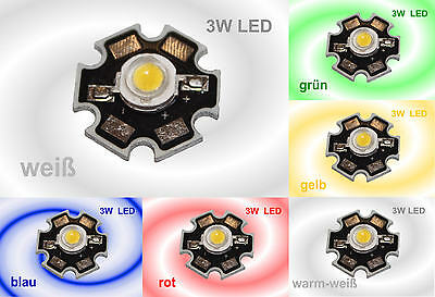 Leistung Led (HIGHPOWER 3W LED Chip Hochleistung LEDs auf Platine High-Power  3 Watt)