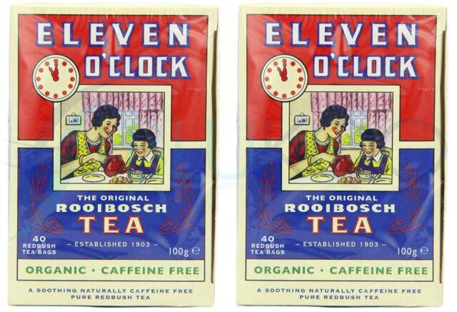 Eleven O'clock Organic Rooibosch Tea - 40 Tea Bags (Pack of 2)