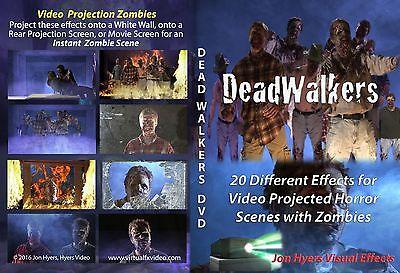 DEAD WALKERS ZOMBIES, HALLOWEEN WINDOW PROJECTION DVD 2016 JON HYERS (Halloween Window Projection Zombies)