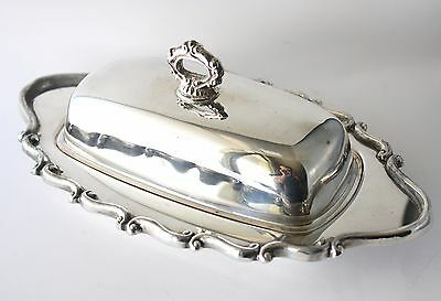 Vintage FB Rogers Silverplate Butter Dish Old with Wear Tarnish Patina