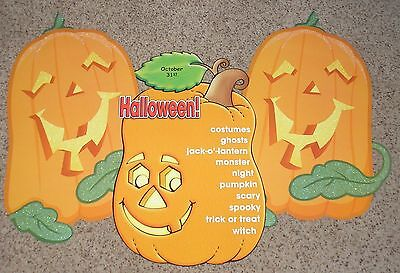 Halloween Teachers Resources (Teacher Resource: Halloween Pumpkins Bulletin Board Set )