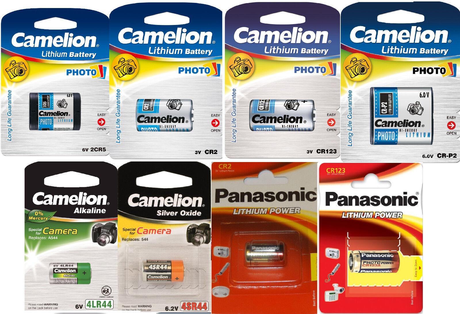Photo Spezial Batterie Panasonic Photo CR123A CR2 Camelion 2CR5 CR-P2 4SR44