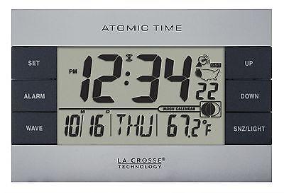 617-1280 La Crosse Technology Atomic Digital Alarm Clock with IN Temperature