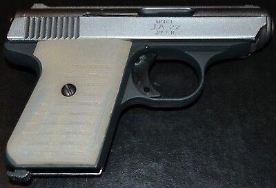 Jimenez JA22 Jennings J22 pistol grips antique ivory plastic